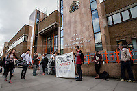 """24.04.2014 - """"Arms Dealers On Trial"""" - Demo At Thames Magistrates Court"""