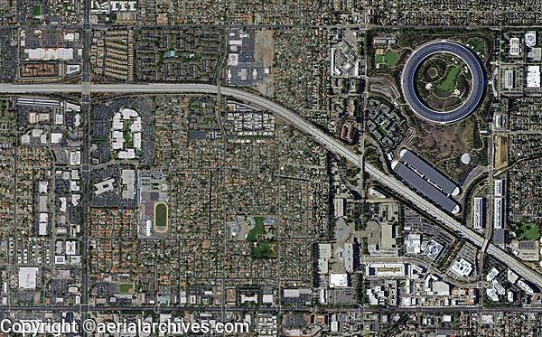 aerial photograph Silicon Valley, California