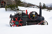 Mount Washington Cog Railway during the winter months. Located in the White Mountains, New Hampshire USA