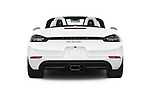 Straight rear view of a 2018 Porsche 718 Boxster Base 2 Door Convertible stock images