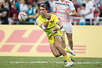 John Porch of Australia passes the ball during the match Australia vs England, the Bronze Final of Day 2 of the HSBC Singapore Rugby Sevens as part of the World Rugby HSBC World Rugby Sevens Series 2016-17 at the National Stadium on 16 April 2017 in Singapore. Photo by Victor Fraile / Power Sport Images