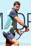 Grigor Dimitrov, Bulgaria, during Madrid Open Tennis 2015 match.May, 7, 2015.(ALTERPHOTOS/Acero)