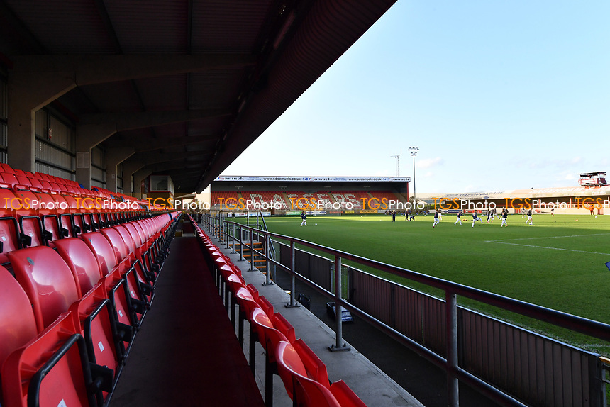 General view of the Chigwell Construction Stadium home of Dagenham  during Dagenham & Redbridge vs Ebbsfleet United, Buildbase FA Trophy Football at the Chigwell Construction Stadium on 19th December 2020