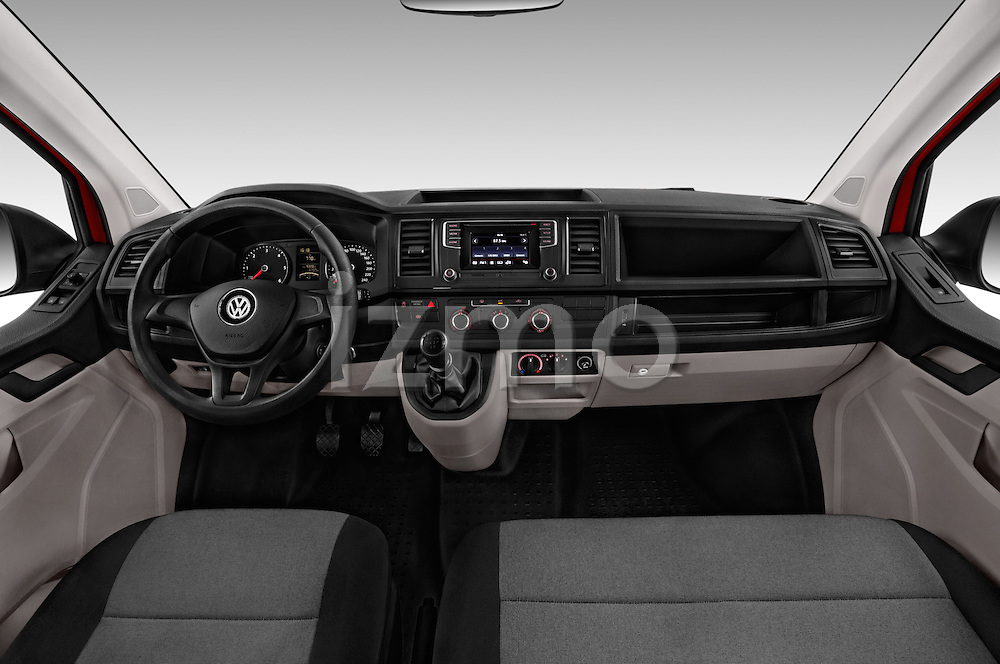 Stock photo of straight dashboard view of 2016 Volkswagen Transporter - 5 Door Passenger Van Dashboard