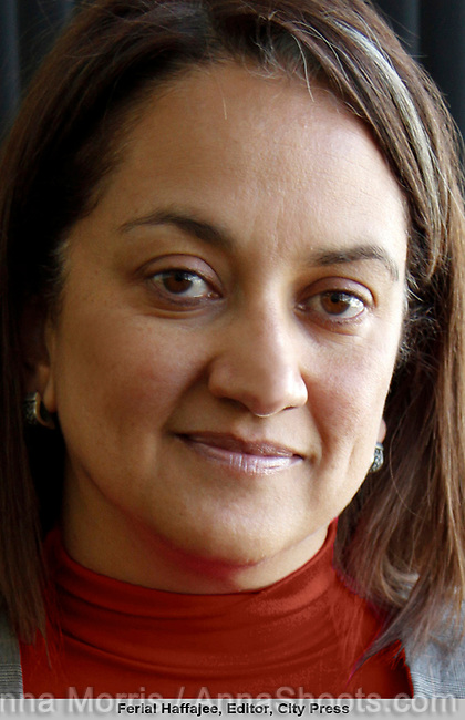 Ferial Haffajee, Editor, City Press, was one of 25 South African leaders interviewed and photographed for a book to be published by TSiBA, a college for tertiary education, in October 2011.