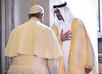 Pope Francis,Sheikh Mohammed bin Zayed al-Nahyan during private audience  the Vatican, Sept. 15,2016