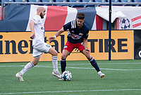 FOXBOROUGH, MA - JULY 4: Tyler Polak #3 of Greenville Triumph SC passes the ball during a game between Greenville Triumph SC and New England Revolution II at Gillette Stadium on July 4, 2021 in Foxborough, Massachusetts.