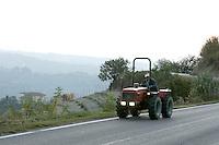 Uno scorcio della strada tra Alba e Ceva.<br /> Scenes along the road between Alba e Ceva, in Piedmont.<br /> UPDATE IMAGES PRESS/Riccardo De Luca