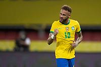 4th June 2021; Beira-Rio Stadium, Porto Alegre, Brazil; Qatar 2022 qualifiers; Brazil versus Ecuador; Neymar of Brazil celebrates his penalty kick goal in the 94th minute 2-0