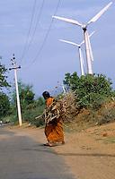 INDIA, Tamil Nadu, Kanyakumari, Cape Comorin, Muppandal, windfarm with wind turbine / INDIEN Kanniyakumari, Kap Komorin, Windpark mit Windkraftanlagen