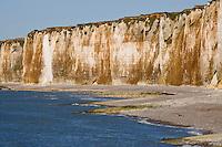 Europe/France/Normandie/Haute-Normandie/76/Seine-Maritime/ Saint-Valéry-en-Caux: les Falaises de la Côte d'Albatre