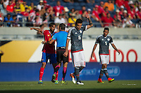Orlando, Florida - Saturday, June 04, 2016: Costa Rican midfielder Bryan Ruiz (10) is upset with a decision by Patricio Loustau (referee) during a Group A Copa America Centenario match between Costa Rica and Paraguay at Camping World Stadium.