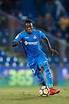 Amath Ndiaye Diedhiou of Getafe CF in action during the La Liga 2017-18 match between Getafe CF and Athletic Club at Coliseum Alfonso Perez on 19 January 2018 in Madrid, Spain. Photo by Diego Gonzalez / Power Sport Images
