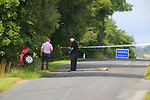 Garda are investigating a single vehicle fatal road traffic collision which occurred close to Brannigan's Cross on the Collon to Tinure Road, Collon, County Louth this morning, Tuesday 11th August 2015 at approximately 1am.<br />  <br /> A man, 32 years, sole occupant suffered serious injuries when the vehicle he was driving left the road and struck a ditch. He was taken to Our Lady of Lourdes Hospital, Drogheda where he was pronounced dead.<br />  <br /> The scene has been preserved and Garda Forensic Collision Investigators will carry out an investigation of the area. Diversions are in place.<br />  <br /> Garda are appealing for witnessess or anyone who was travelling the Collon-Tinure Road between 12.30am and 1am on 11th August 2015 are asked to contact them at Ardee on 041 6871130, The Garda Confidential Line, 1800 666111 or any Garda Station.<br /> <br /> Picture: ©Newsfile \ Fran Caffrey