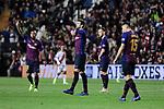 FC Barcelona's Gerard Pique celebrates goal during La Liga match between Rayo Vallecano and FC Barcelona at Vallecas Stadium in Madrid, Spain. November 03, 2018. (ALTERPHOTOS/A. Perez Meca)