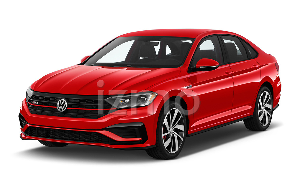 2019 Volkswagen Jetta GLI-S 4 Door Sedan angular front stock photos of front three quarter view