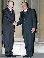 """Jacques Chirac ReÁoit ‡ L'ElysÈe, Recep Tayyip ERDOGAN (Chef du Parti de la Justice et du DÈveloppement en Turquie) """" AKP """". #"""