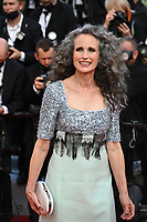 """CANNES, FRANCE. July 6, 2021: Andie MacDowell at the premiere of """"Annette"""" at the gala opening of the 74th Festival de Cannes.<br /> Picture: Paul Smith / Featureflash"""