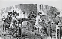 Early Telephone Operators, Artist Unknown