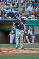 Boog Powell (2) of the El Paso Chihuahuas at bat against the Salt Lake Bees at Smith's Ballpark on August 17, 2019 in Salt Lake City, Utah. The Bees defeated the Chihuahuas 5-4. (Stephen Smith/Four Seam Images)