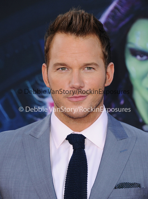 Chris Pratt<br />  attends The Marvel Studios World Premiere GUARDIANS OF THE GALAXY held at The Dolby Theatre in Hollywood, California on July 21,2014                                                                               © 2014Hollywood Press Agency