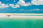 Canoe on the lagoon.Christmas Island (Kiritimati), Kiribati