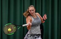 Wateringen, The Netherlands, December 8,  2019, De Rhijenhof , NOJK juniors 14 and18 years, Finals girls 18 years:  Anouk Koevermans (NED)<br /> Photo: www.tennisimages.com/Henk Koster