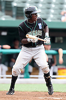 Kane County Cougars Orlando Calixte #11 during a game against the South Bend Silver Hawks at Coveleski Stadium on July 24, 2011 in South Bend, Indiana.  Kane County defeated South Bend 7-5.  (Mike Janes/Four Seam Images)