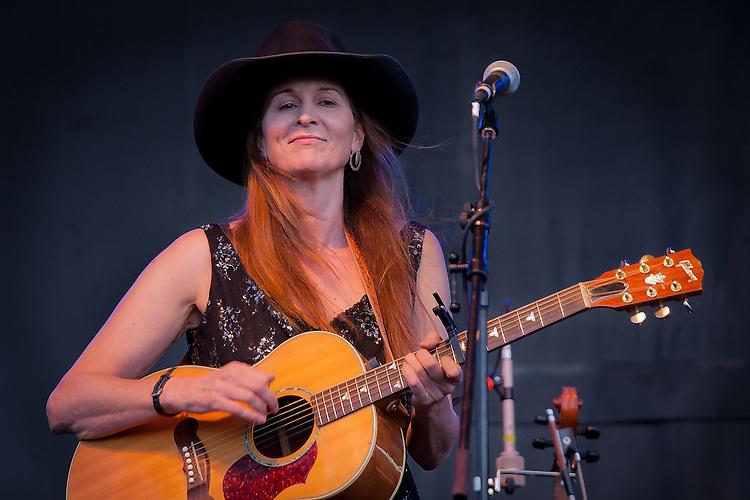 Singer/songwriter Stephanie Davis sings at the Montana Folk Festival