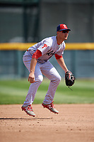 Reading Fightin Phils third baseman Mitch Walding (10) during a game against the Erie SeaWolves on May 18, 2017 at UPMC Park in Erie, Pennsylvania.  Reading defeated Erie 8-3.  (Mike Janes/Four Seam Images)