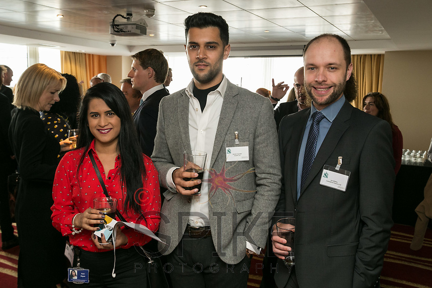 Pictured from left are Sumi Begum from Nelsons, Ishaak Ugradar of Freeths and Ian Whiley of Swindell & Pearson
