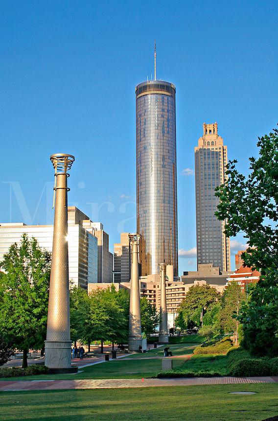 Centennial Olympic Park downtown Atlanta Georgia