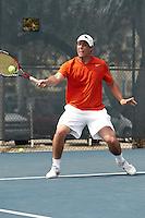 SAN ANTONIO, TX - APRIL 7, 2011: The Texas A&M University Corpus Christi Islanders vs. the University of Texas at San Antonio Roadrunners Men's Tennis at the UTSA Tennis Center. (Photo by Jeff Huehn)