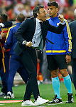 FC Barcelona's coach Luis Enrique Martinez celebrates goal during Spanish Kings Cup Final match. May 22,2016. (ALTERPHOTOS/Acero)