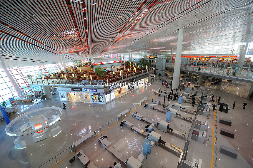 Terminal 3 Beijing International Airport. Designed by British architect Lord Norman Foster.