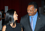 Lisa Ling and Rev. Jesse Jackson at the Clinton Global Initiative 2009 in New York City.