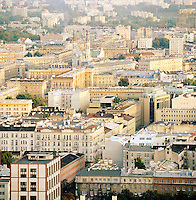City view from the Palace of Arts and Culture, Warsaw, Poland