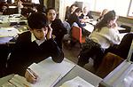 1990s Schools UK.pupils boys girls Greenford High School, Middlesex  London 1990 UK 1990