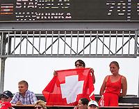 18-06-13, Netherlands, Rosmalen,  Autotron, Tennis, Topshelf Open 2013, Swiss supporters<br /> <br /> Photo: Henk Koster