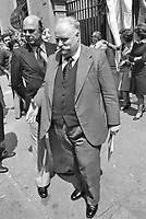 """- Mario Tedeschi, direttore del  settimanale """"Il Borghese"""", senatore del partito neofascista MSI (Movimento Sociale Italiano), iscritto alla loggia massonica deviata P2, indicato come uno dei mandanti e organizzatori dell' attentato e strage alla stazione di Bologna del 2 agosto 1980 (Milano, Aprile 1976)<br /> <br /> - Mario Tedeschi, director of the weekly """"Il Borghese"""", senator of the neo-fascist party MSI (Italian Social Movement), enrolled in the P2 deviated Masonic lodge, indicated as one of the instigators and organizers of the attack and massacre at the Bologna station on August 2, 1980 ( Milan, April 1976)"""