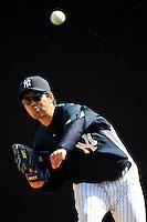 Feb 23, 2010; Tampa, FL, USA; New York Yankees  pitcher Kei Igawa (17) during  team workout at George M. Steinbrenner Field. Mandatory Credit: Tomasso De Rosa