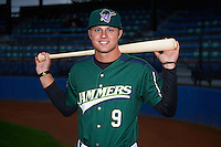 Jamestown Jammers outfielder Austin Meadows (9) poses for a photo before a game against the State College Spikes on September 3, 2013 at Russell Diethrick Park in Jamestown, New York.  State College defeated Jamestown 3-1.  (Mike Janes/Four Seam Images)