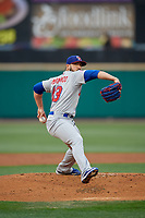 Buffalo Bisons starting pitcher Shawn Morimando (43) during an International League game against the Rochester Red Wings on May 31, 2019 at Frontier Field in Rochester, New York.  Rochester defeated Buffalo 5-4 in ten innings.  (Mike Janes/Four Seam Images)