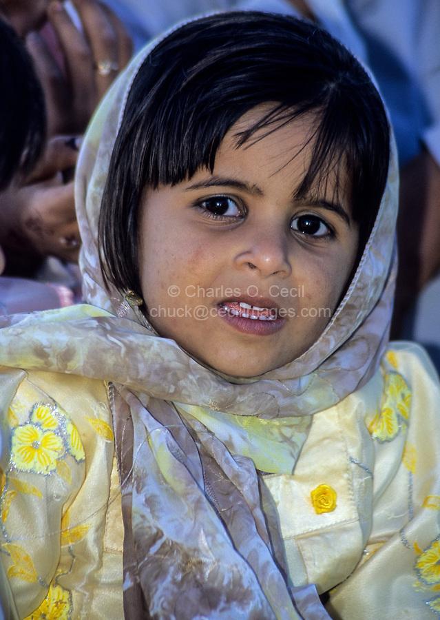 Sur, Oman.  Young Omani Girl.