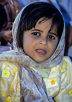 Sur, Oman.  Young Omani Girl.