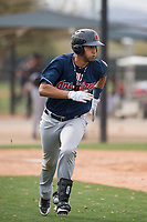 Cleveland Indians left fielder Miguel Jerez (2) during a Minor League Spring Training game against the Chicago White Sox at Camelback Ranch on March 16, 2018 in Glendale, Arizona. (Zachary Lucy/Four Seam Images)