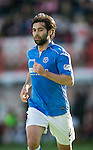 Hamilton Academical St Johnstone....04.04.15<br /> Simon Lappin<br /> Picture by Graeme Hart.<br /> Copyright Perthshire Picture Agency<br /> Tel: 01738 623350  Mobile: 07990 594431