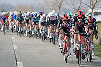 Team Lotto-Soudal (unsuccessfully) trying to imply rampage when entering De Moeren<br /> <br /> 45th Oxyclean Classic Brugge-De Panne 2021 (ME/1.UWT)<br /> 1 day race from Bruges to De Panne (204km)<br /> <br /> ©kramon