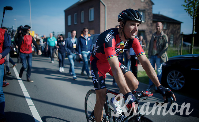 last years winner Philippe Gilbert (BEL/BMC) heading towards the teambus after the race<br /> <br /> 50th Amstel Gold Race 2015