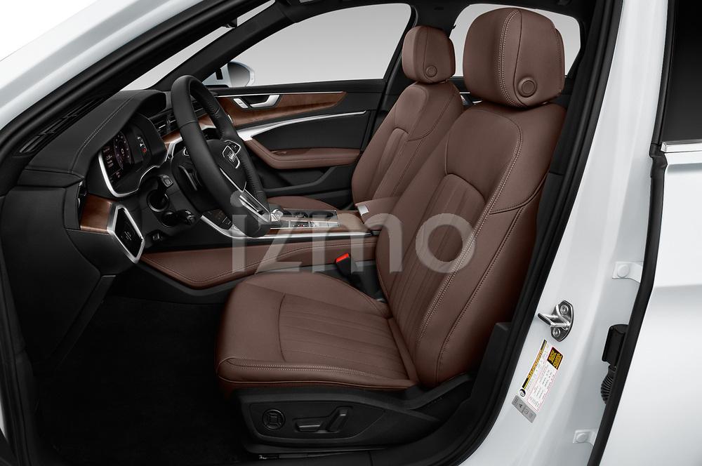Front seat view of 2019 Audi A6 S-Line 4 Door Sedan
